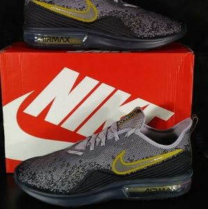 NIB! Nike Air Max Sequent 4 Gridiron/Metallic Pwtr